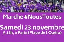 Marche #NousToutes contre les violences sexistes et sexuelles