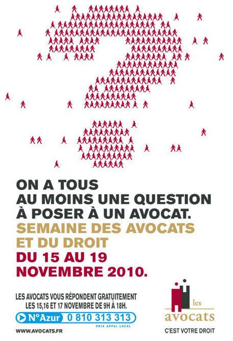Semaine des Avocats et du Droit du 15 au 17 novembre 2010