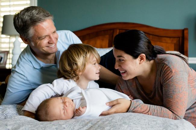 arrivée d'un bébé en famille recomposée
