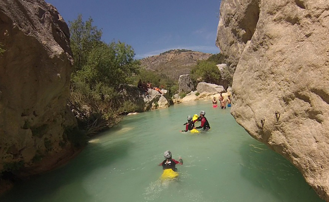 canyoning en parent solo