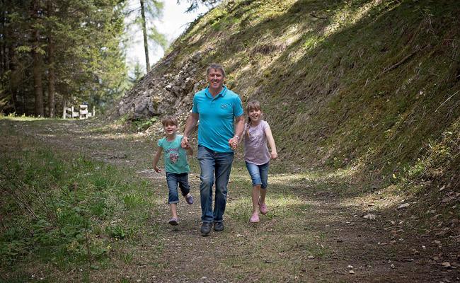 randonnée en famille solo