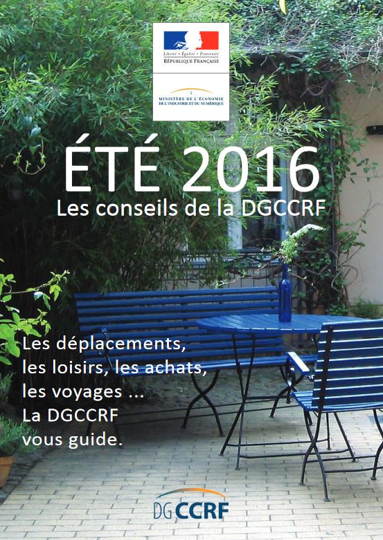 Guide des vacances 2016, par la DGCCRF
