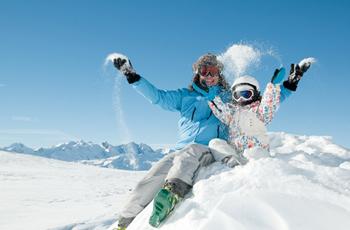 Vances au ski pour famille monoparentale