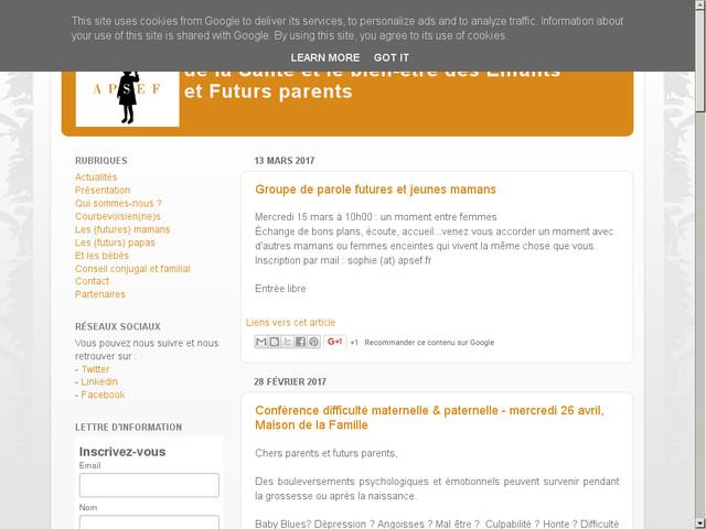 Conférence : difficultés maternelle & paternelle