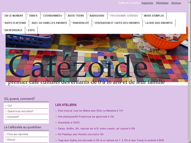 Sortie au Cafézoïde