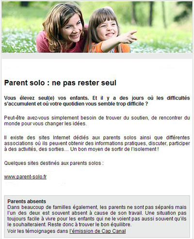 Article Vies de Famille
