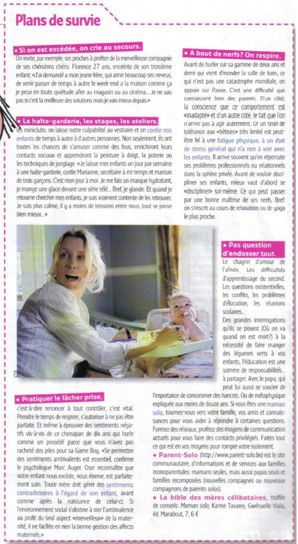 Article Femmes d'Aujourd'hui