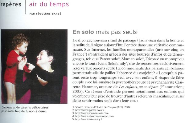 Article Psychologies Octobre 2007