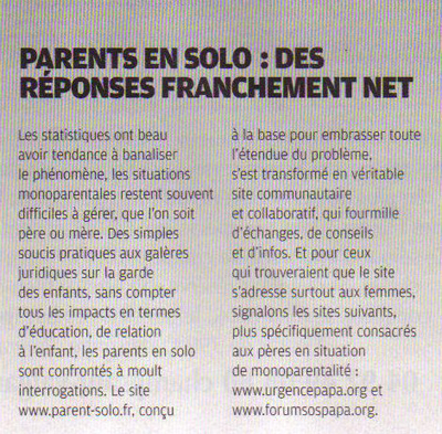 Article Parent Solo - TGV Magazine
